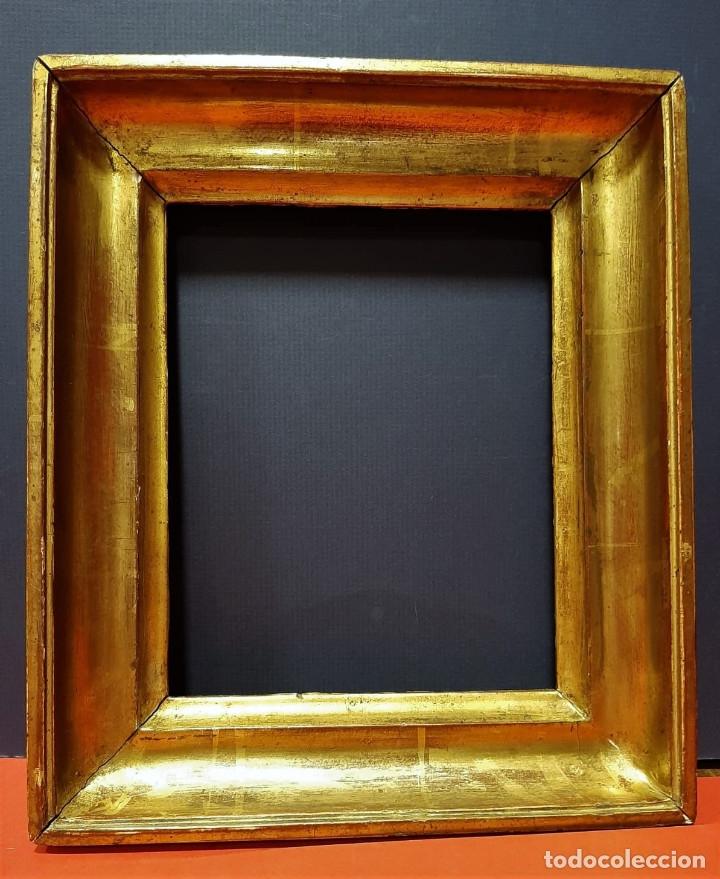 Antigüedades: Marco de madera dorada. Francia, s. XIX. - Foto 3 - 177081083