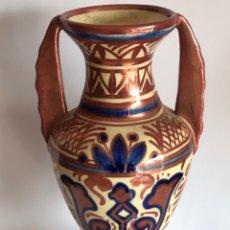 Antigüedades: JARRÓN DE REFLEJOS MANISES FIRMADO GIMENO RÍOS. SEGUNDA MITAD DEL. XX. . Lote 177113292