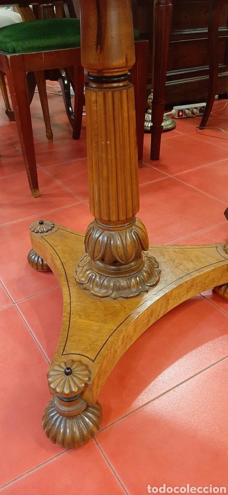 Antigüedades: Mesa velador auxiliar - Foto 2 - 177116010