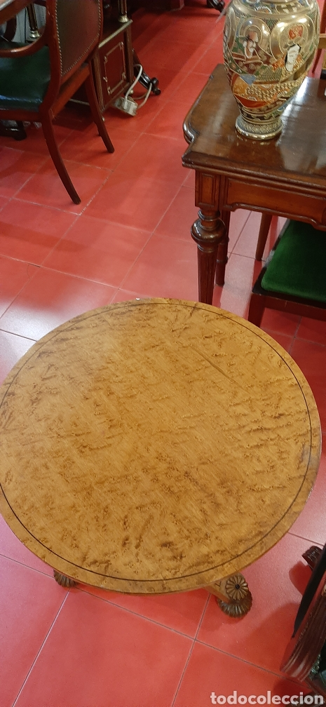 Antigüedades: Mesa velador auxiliar - Foto 3 - 177116010