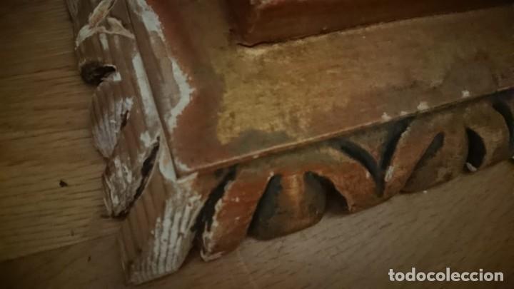 Antigüedades: ANTIGUA LAMPARA PIE MADERA TALLADA POLICROMADA - Foto 19 - 177123660
