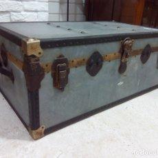 Antigüedades: ANTIGUO BAÚL DE VIAJE. Lote 177130919
