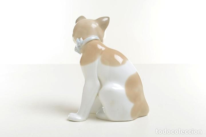 Antigüedades: gato de Nao de Lladró, figura Lladró, Lladró vintage, figura porcelana, porcelana española, gato - Foto 4 - 177136798