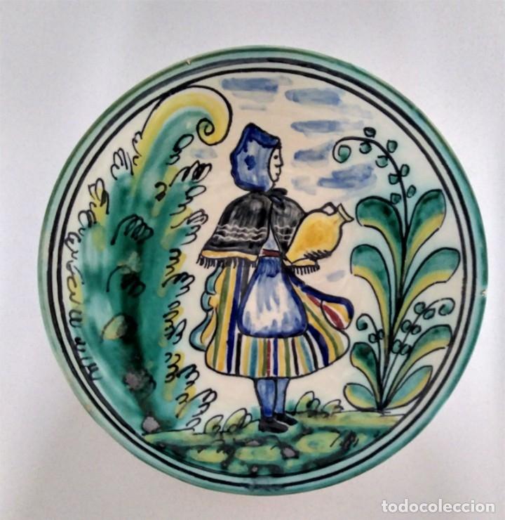 PRECIOSO PLATO PUENTE DEL ARZOBISPO CYR (Antigüedades - Porcelanas y Cerámicas - Puente del Arzobispo )