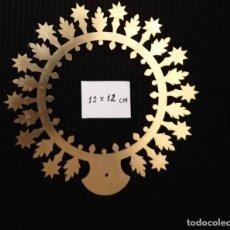 Antigüedades: CORONA/AUREOLA DE LATON. 12CM. DE DIAMETRO. Lote 177143347