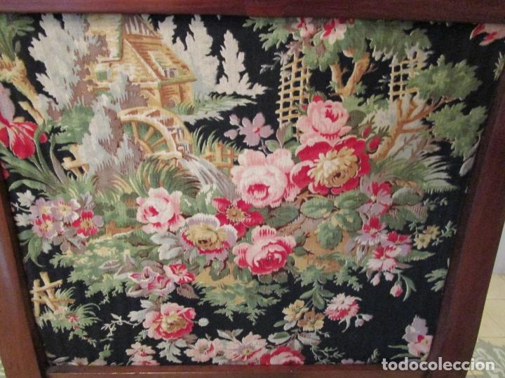 Antigüedades: Preciosa Pareja de Sillones Imperio - Madera de Caoba - Tapicería Perfecta, Original - S. XVIII-XIX - Foto 18 - 177187955