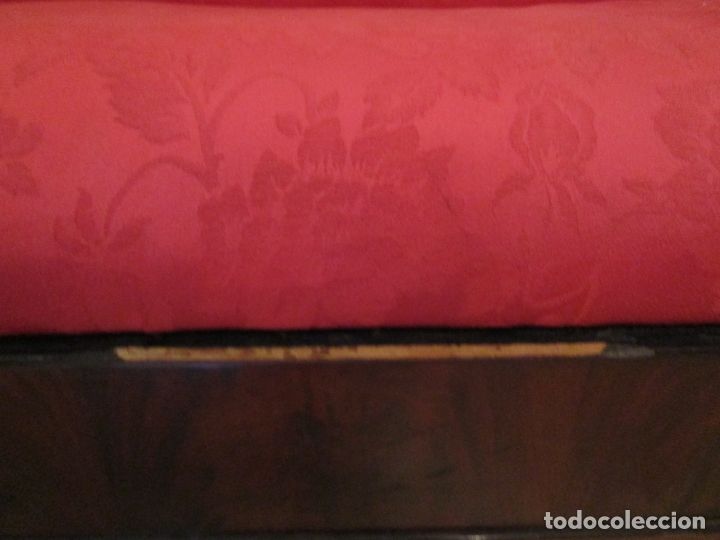 Antigüedades: Antiguo Canapé Imperio - Sofá - Madera de Caoba - Decoración con Talla en forma de Cisnes - S.XIX - Foto 10 - 177189888
