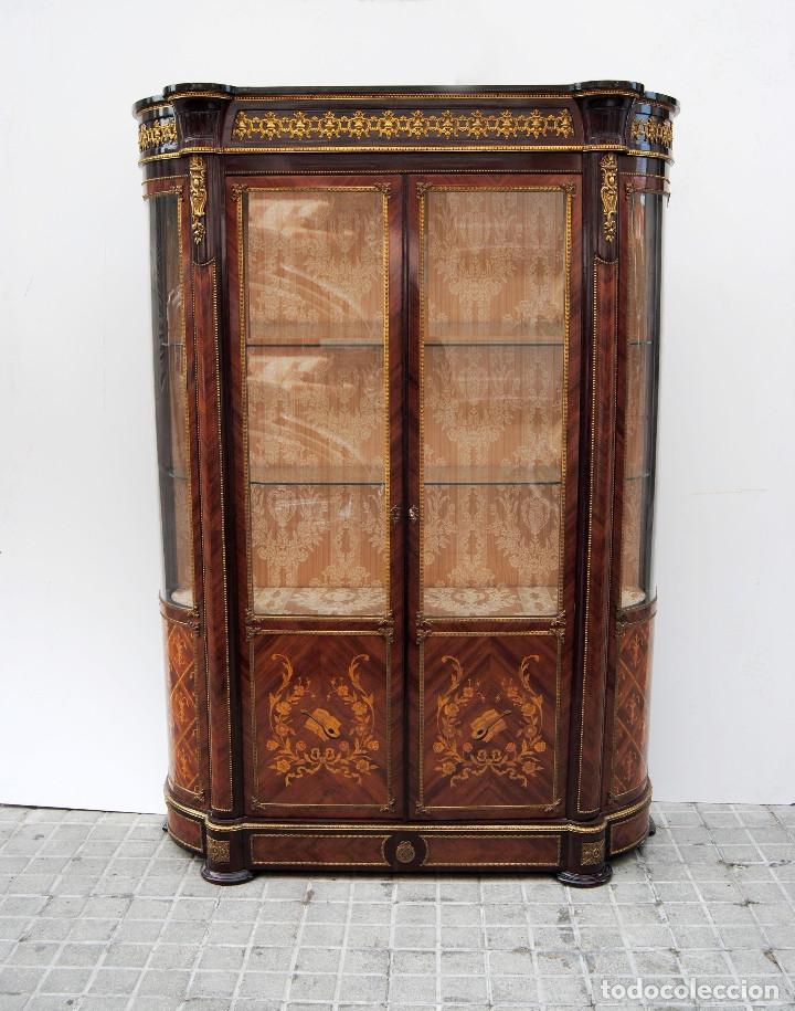 ANTIGUA VITRINA IMPERIO (Antigüedades - Muebles Antiguos - Vitrinas Antiguos)
