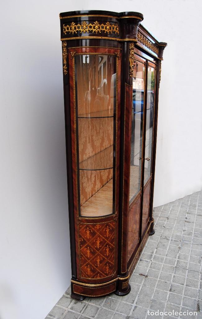 Antigüedades: Antigua vitrina imperio - Foto 3 - 177206059