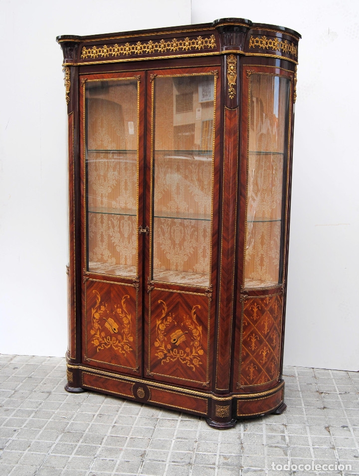 Antigüedades: Antigua vitrina imperio - Foto 4 - 177206059
