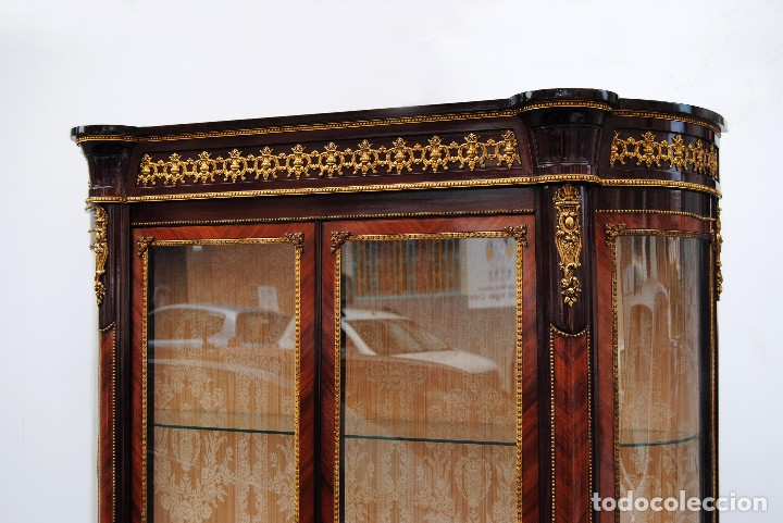 Antigüedades: Antigua vitrina imperio - Foto 6 - 177206059