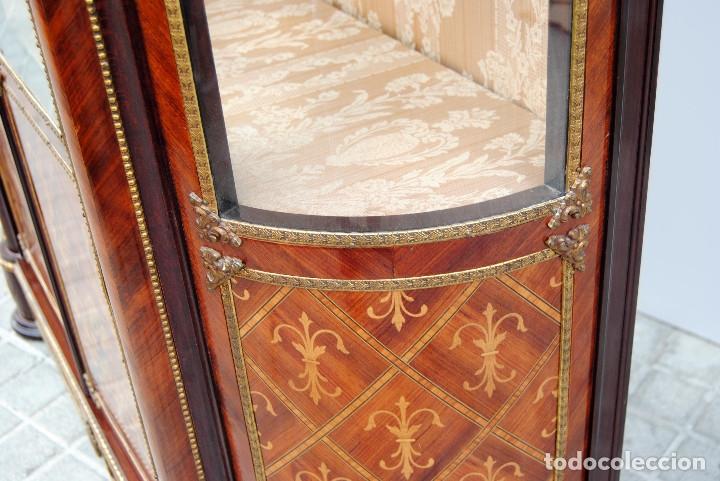 Antigüedades: Antigua vitrina imperio - Foto 9 - 177206059