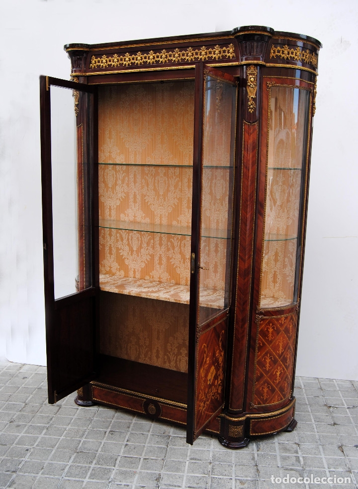 Antigüedades: Antigua vitrina imperio - Foto 12 - 177206059