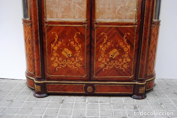 Antigüedades: Antigua vitrina imperio - Foto 16 - 177206059