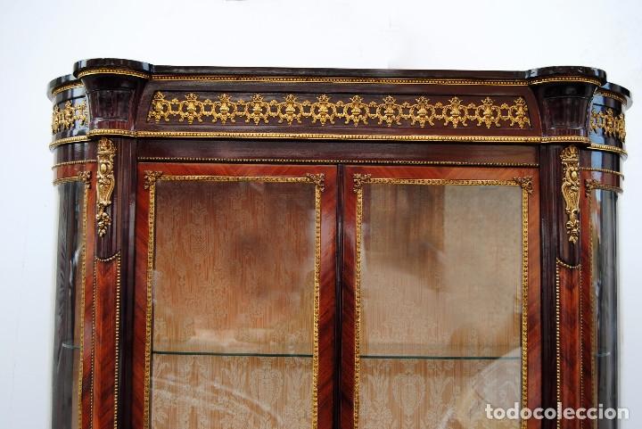 Antigüedades: Antigua vitrina imperio - Foto 17 - 177206059