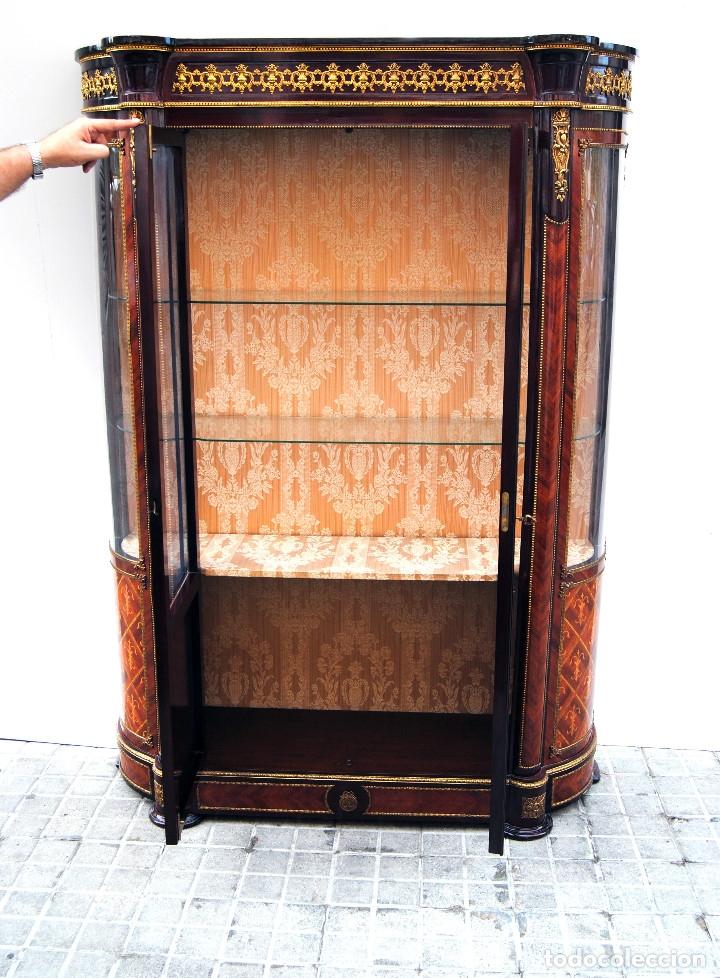 Antigüedades: Antigua vitrina imperio - Foto 18 - 177206059