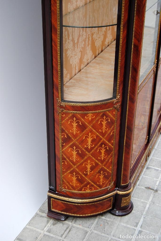 Antigüedades: Antigua vitrina imperio - Foto 19 - 177206059