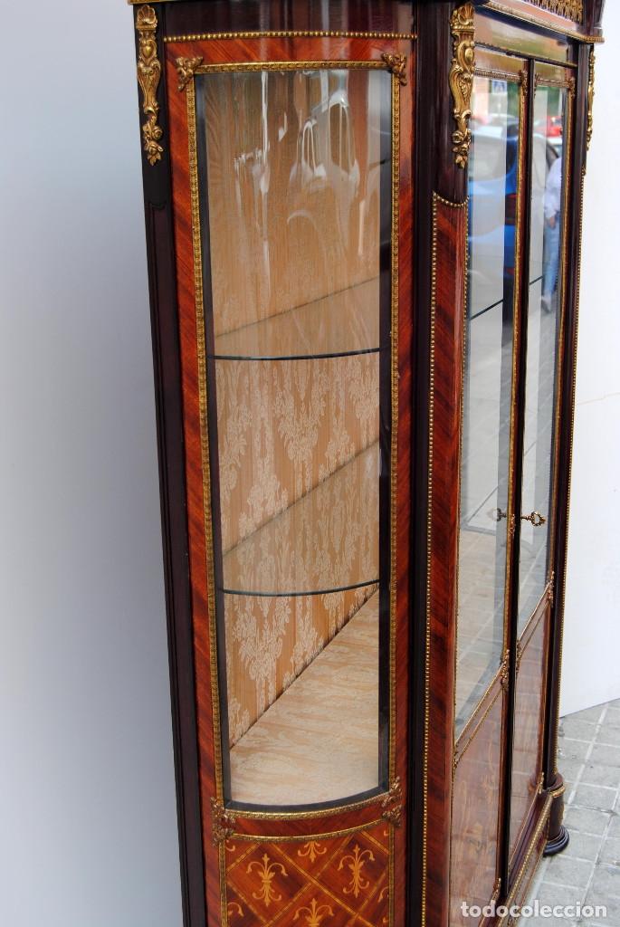 Antigüedades: Antigua vitrina imperio - Foto 20 - 177206059