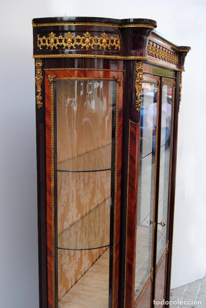 Antigüedades: Antigua vitrina imperio - Foto 21 - 177206059