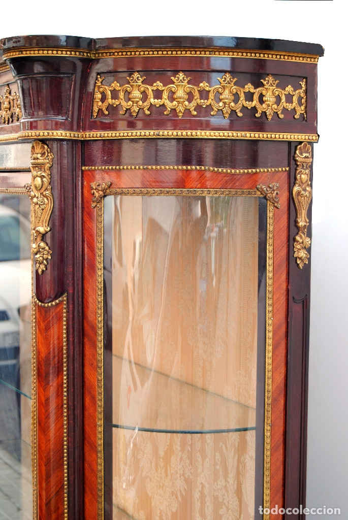 Antigüedades: Antigua vitrina imperio - Foto 22 - 177206059
