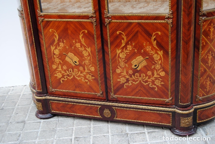 Antigüedades: Antigua vitrina imperio - Foto 23 - 177206059