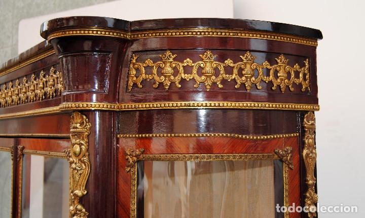 Antigüedades: Antigua vitrina imperio - Foto 26 - 177206059