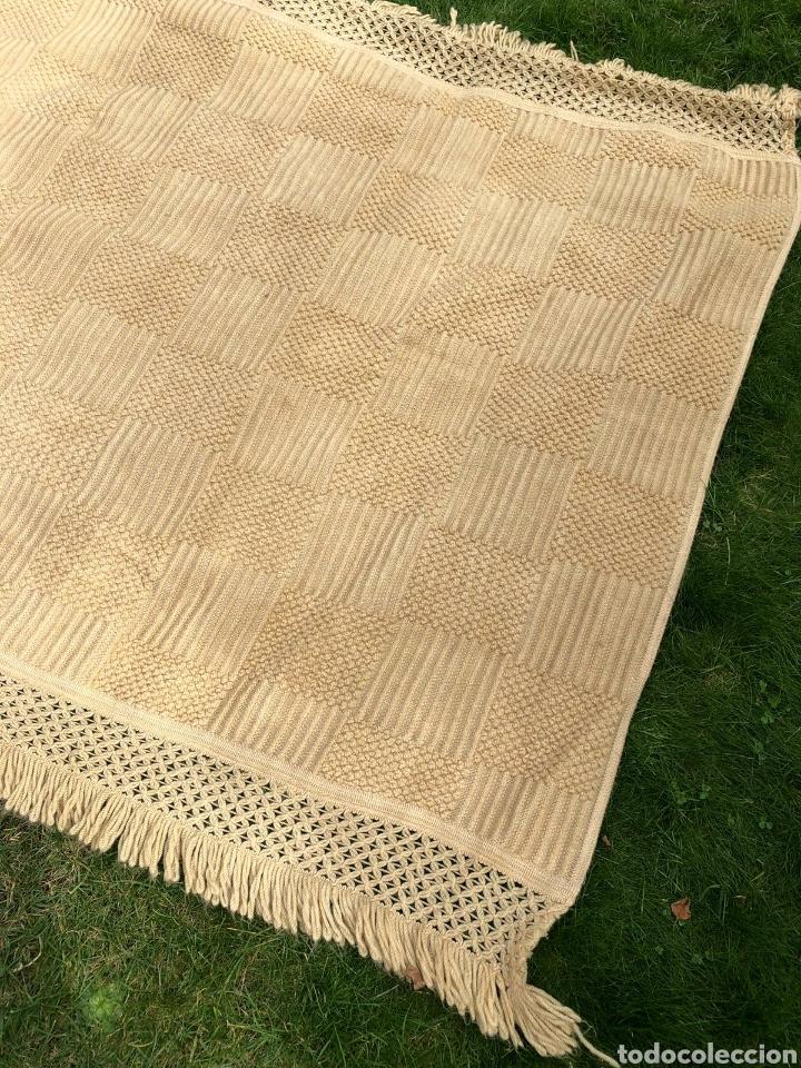 Antigüedades: Colcha antigua de lana 250x165 . - Foto 2 - 177206775