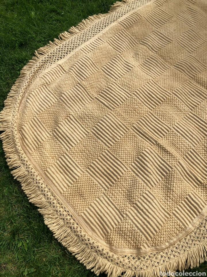 Antigüedades: Colcha antigua de lana 250x165 . - Foto 3 - 177206775