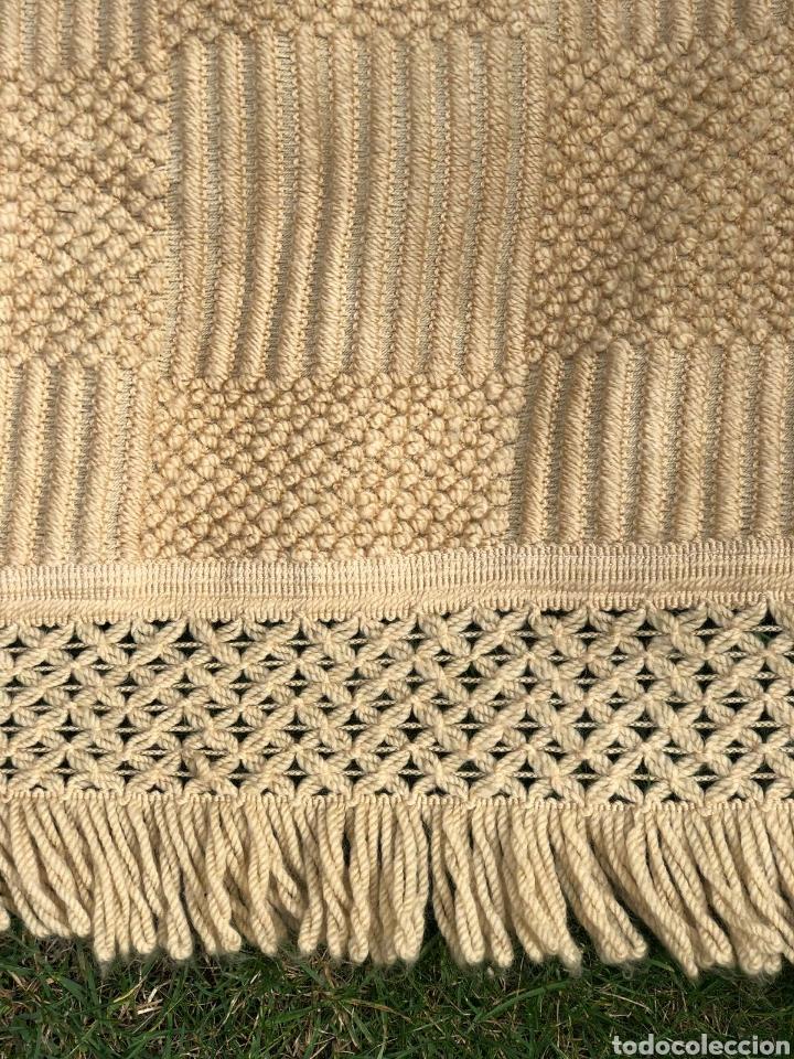 Antigüedades: Colcha antigua de lana 250x165 . - Foto 4 - 177206775