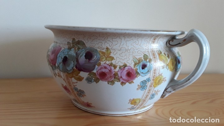 Antigüedades: Orinal F. W. & Co. Semi porcelana inglesa - Foto 6 - 177211104