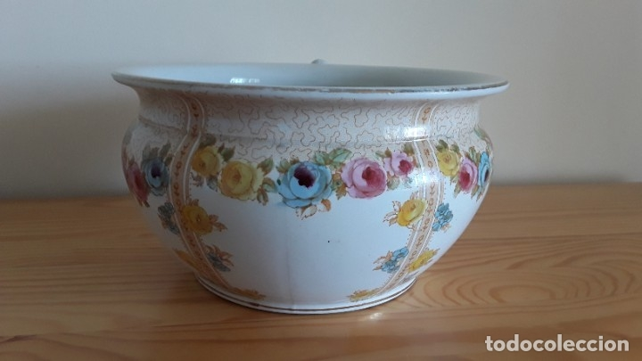 Antigüedades: Orinal F. W. & Co. Semi porcelana inglesa - Foto 11 - 177211104