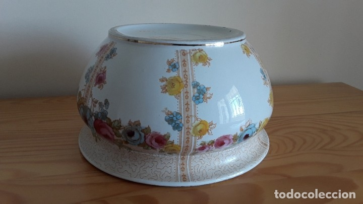 Antigüedades: Orinal F. W. & Co. Semi porcelana inglesa - Foto 14 - 177211104