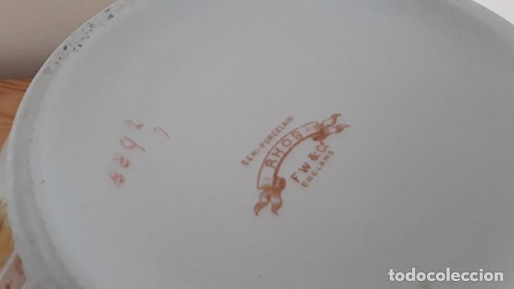 Antigüedades: Orinal F. W. & Co. Semi porcelana inglesa - Foto 17 - 177211104