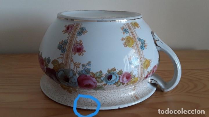 Antigüedades: Orinal F. W. & Co. Semi porcelana inglesa - Foto 19 - 177211104