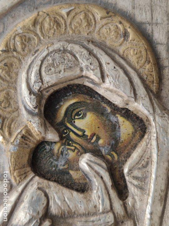 Antigüedades: ICONO DE PLATA CONTRASTADA 925 , MINIATURA , ICONA IN ARGENTO - Foto 5 - 177249840