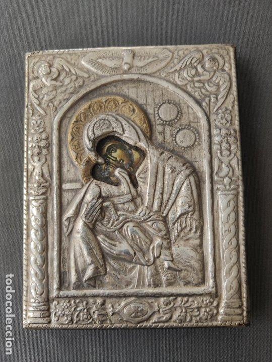 ICONO DE PLATA CONTRASTADA 925 , MINIATURA , ICONA IN ARGENTO (Antigüedades - Religiosas - Varios)