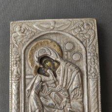 Antigüedades: ICONO DE PLATA CONTRASTADA 925 , MINIATURA , ICONA IN ARGENTO . Lote 177249840