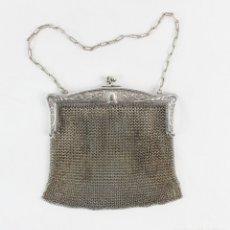 Antigüedades: BOLSO S XIX, LAMINADO EN PLATA O PLATA 800. Lote 177276975