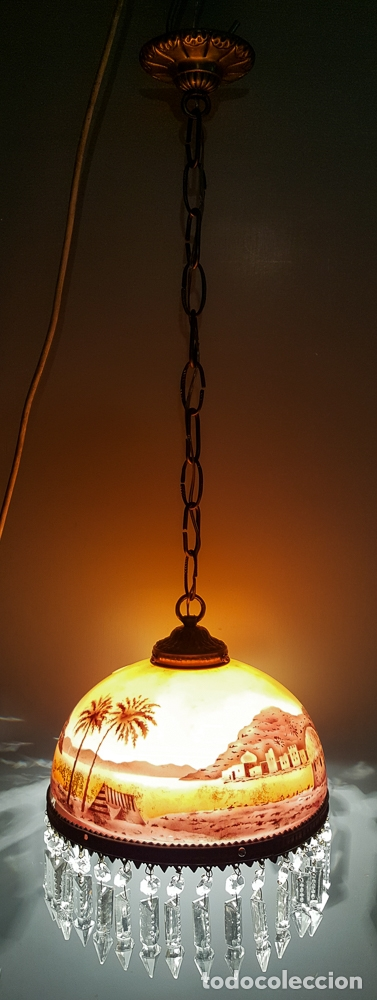 Antigüedades: LAMPARA TULIPA MODERNISTA - Foto 2 - 177301042