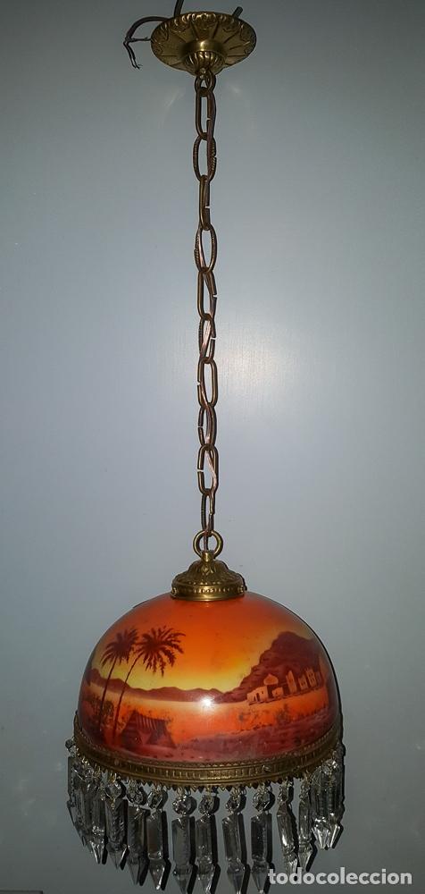 Antigüedades: LAMPARA TULIPA MODERNISTA - Foto 3 - 177301042