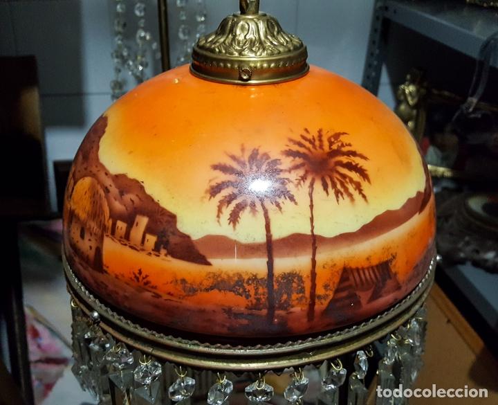 LAMPARA TULIPA MODERNISTA (Antigüedades - Iluminación - Lámparas Antiguas)