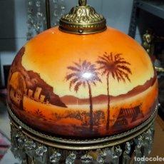Antigüedades: LAMPARA TULIPA MODERNISTA. Lote 177301042