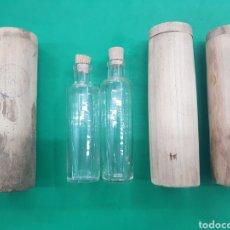 Antigüedades: NACHER ,LOTE DE 3 ESTUCHES DE MADERA Y DOS BOTELLAS DE PERFUME DE FARMACIA , PRINCIPIOS DE 1900. Lote 177301278