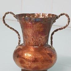 Antigüedades: PEQUEÑO JARRÓN DE COBRE. APROX 12 CM. Lote 177301468