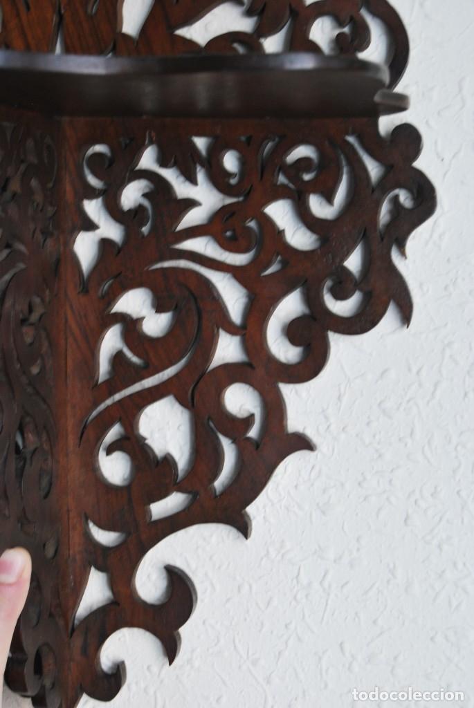 Antigüedades: PRECIOSA MÉNSULA DE MADERA TALLADA - REPISA - BALDA - AÑOS 30-40 - Foto 3 - 177306714