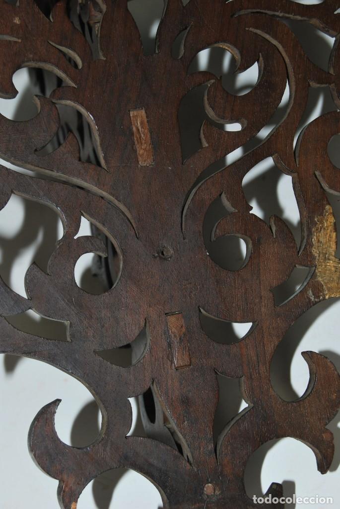 Antigüedades: PRECIOSA MÉNSULA DE MADERA TALLADA - REPISA - BALDA - AÑOS 30-40 - Foto 11 - 177306714