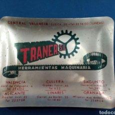 Antigüedades: TRANER , S.L. CENICERO PUBLICIDAD , AÑOS 1960-70. Lote 177309637