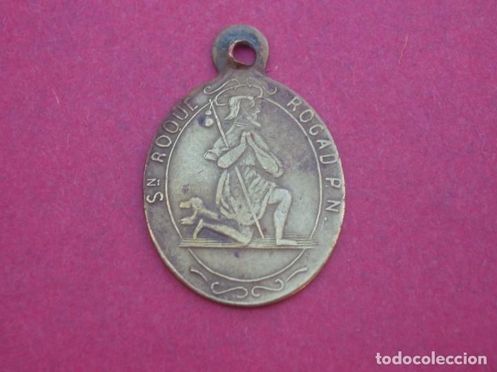 Antigüedades: Medalla Siglo XIX Virgen del Puig. Valencia. Mercedarios. San Roque. - Foto 2 - 177316264