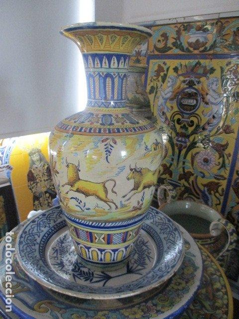 JARRON CERAMICA DE TRIANA SIGLO XIX (Antigüedades - Porcelanas y Cerámicas - Triana)