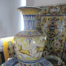 Antigüedades: JARRON CERAMICA DE TRIANA SIGLO XIX. Lote 177328310
